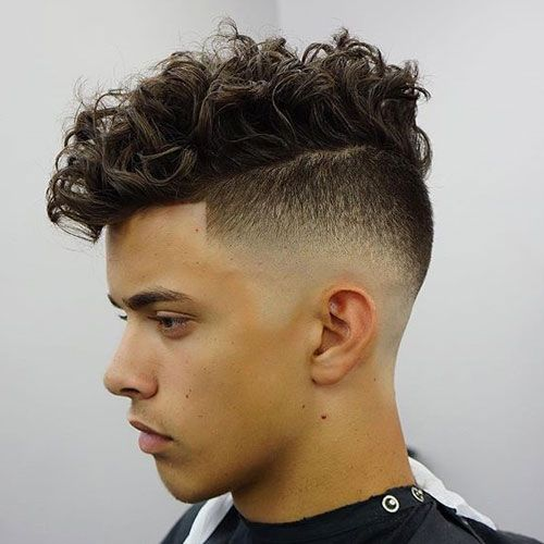High Razor Fade Shape Up Messy Curly Hair Mens Hairstyles 2018 Short New