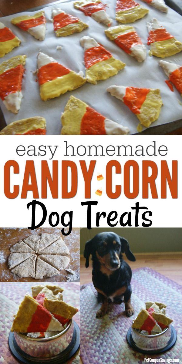 Homemade Candy Corn Dog Treats Candy corn dog, Dog food