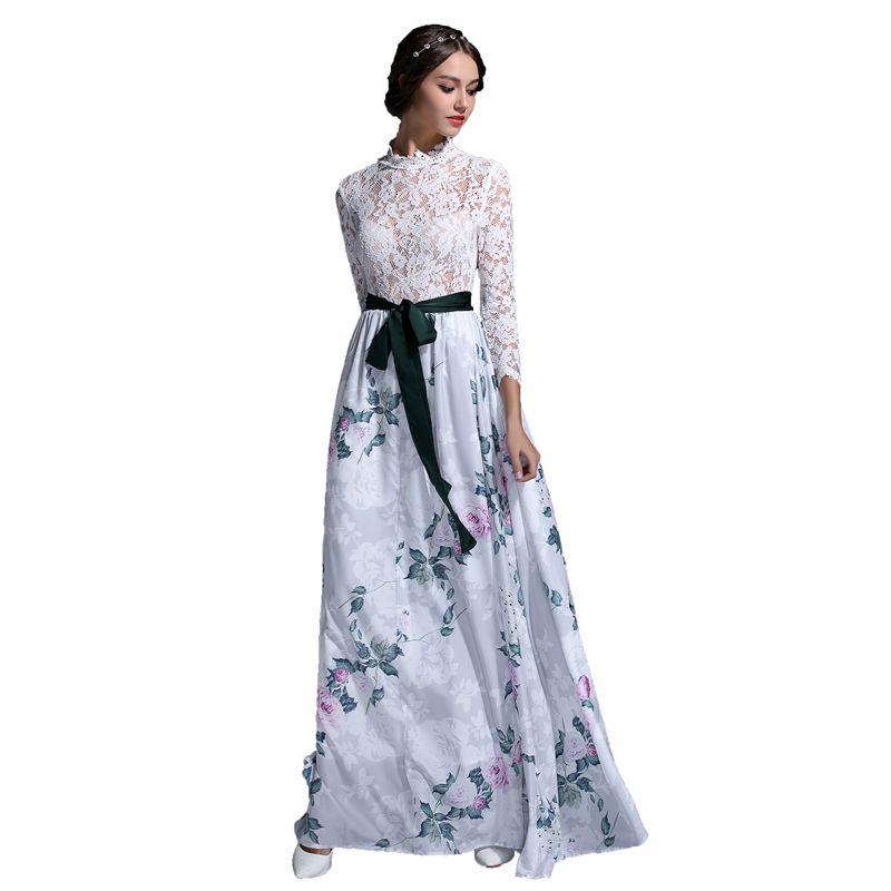 HIGH QUALITY New Fashion 2016 Designer Runway Maxi Dress Women's ...