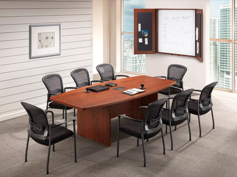 Boat Shaped Conference Table X Boat Shaped Conference - 42 x 96 conference table