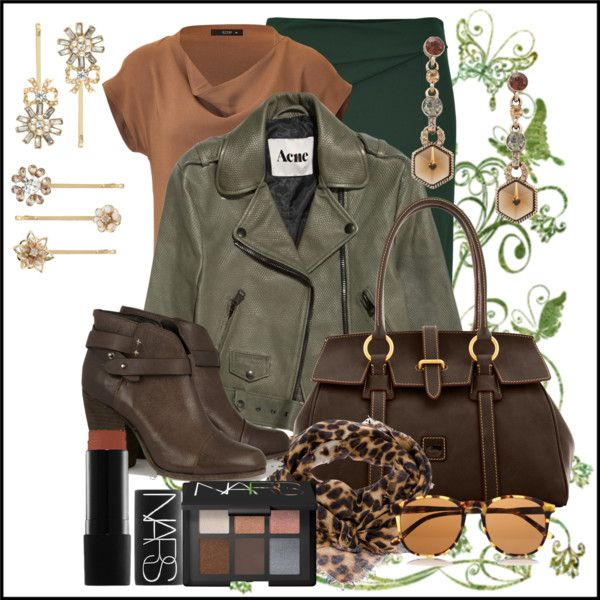 """Bronze Biker"" by jacque-reid on Polyvore"