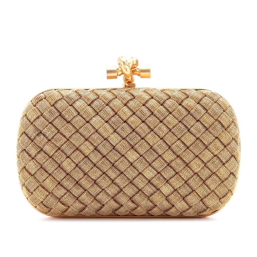 ee399daa2c63b mytheresa.com - Knot gold-plated box clutch - bags - Luxury Fashion for  Women / Designer clothing, shoes, bags