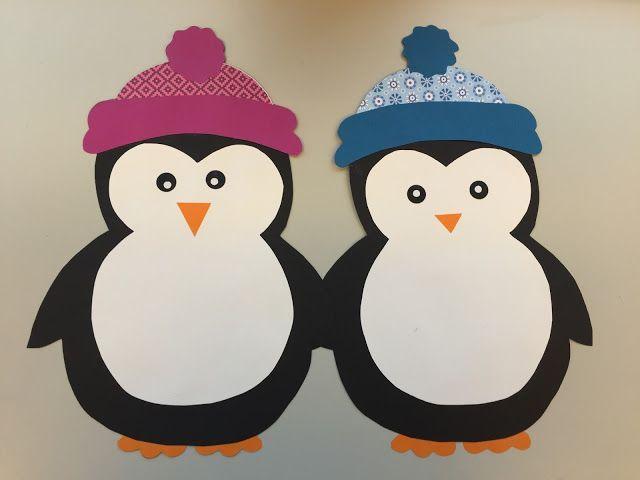 Fensterdeko pinguin freebie klassenkunst schneelandschaft h nde zeichnen und fensterdeko - Pinguin basteln vorlage ...