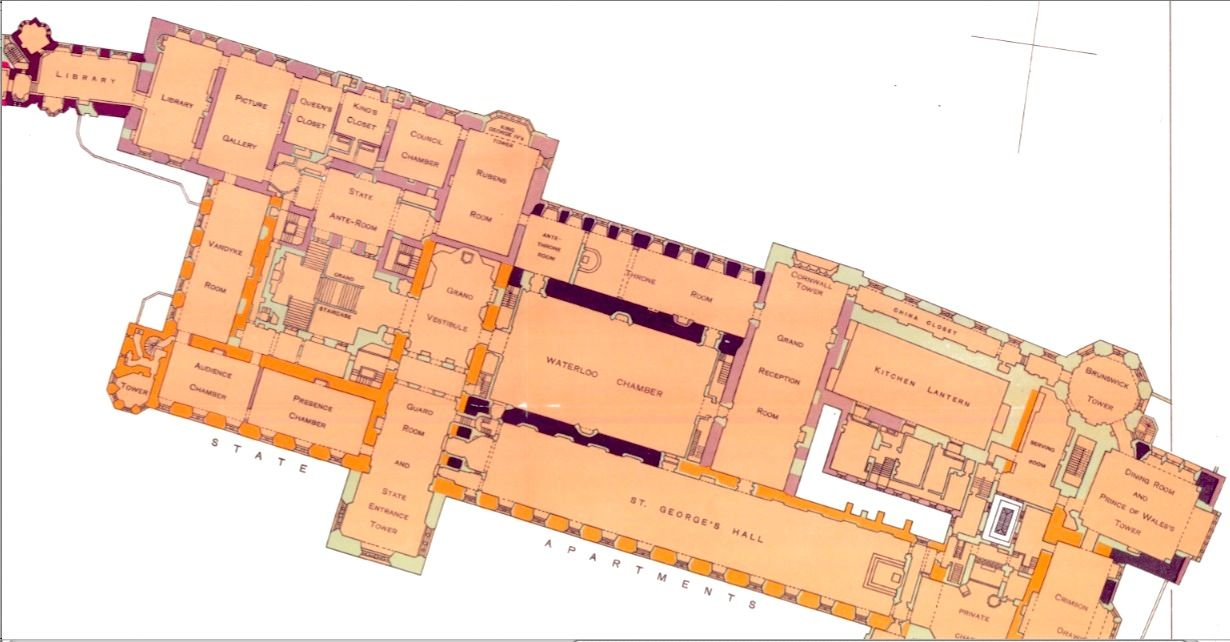 Windsor Castle Main Floor Castle Floor Plan Windsor Castle Architecture Plan
