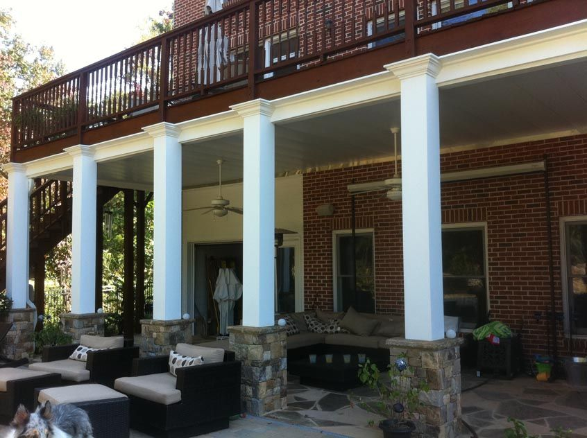 deck builders porch columns deck patio patio under decks stone patios