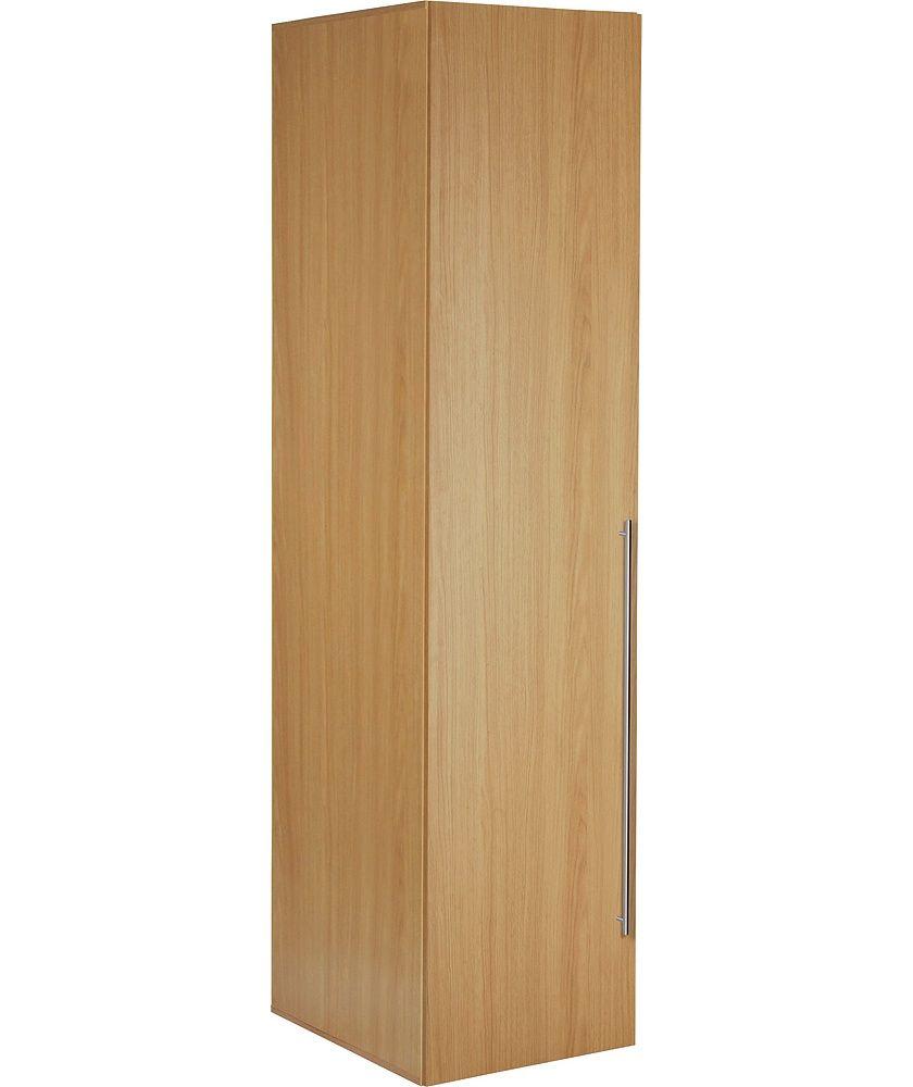Home Atlas 1 Door Tall Wardrobe Oak Effect In 2020 Fitted Bedrooms Argos Wardrobe Design