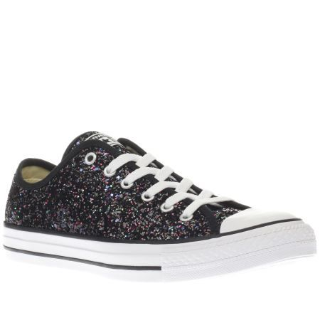 4e1cdd4f2ce8 womens converse black   purple all star glitter ox trainers