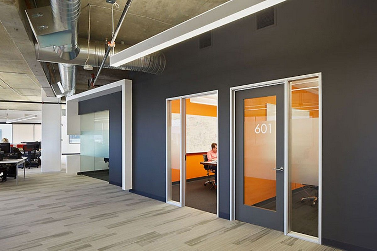 accent office interiors. office workspace dark accent wall interior design ideas at squaretrade inspiring modern offices in silicon valley interiors k