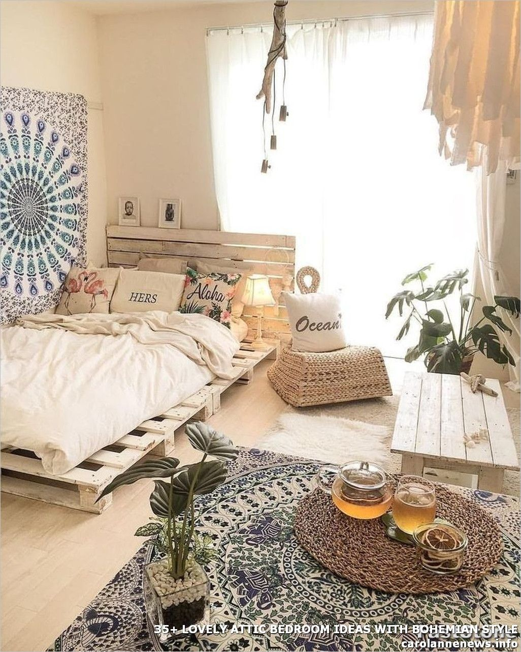 35+ #LOVELY #ATTIC #BEDROOM #IDEAS #WITH #BOHEMIAN #STYLE ...