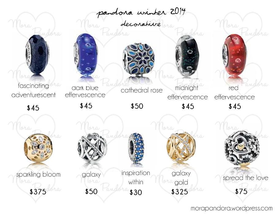 Pandora Charms Rings Prices