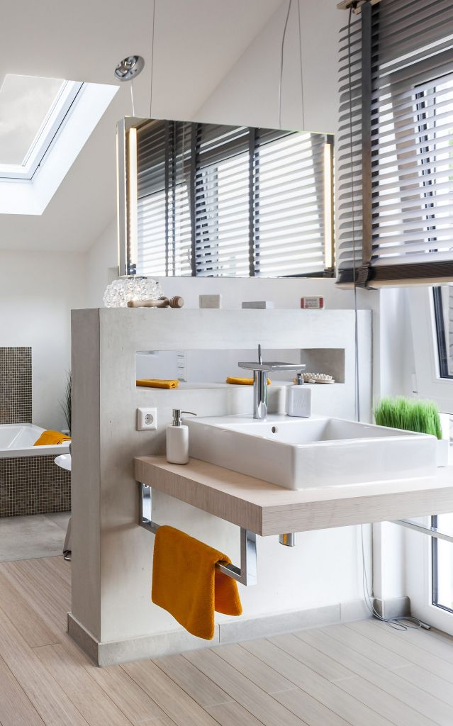 Spiegel Raumteiler innenarchitektur tolles kühles raumtrenner badezimmer spiegel