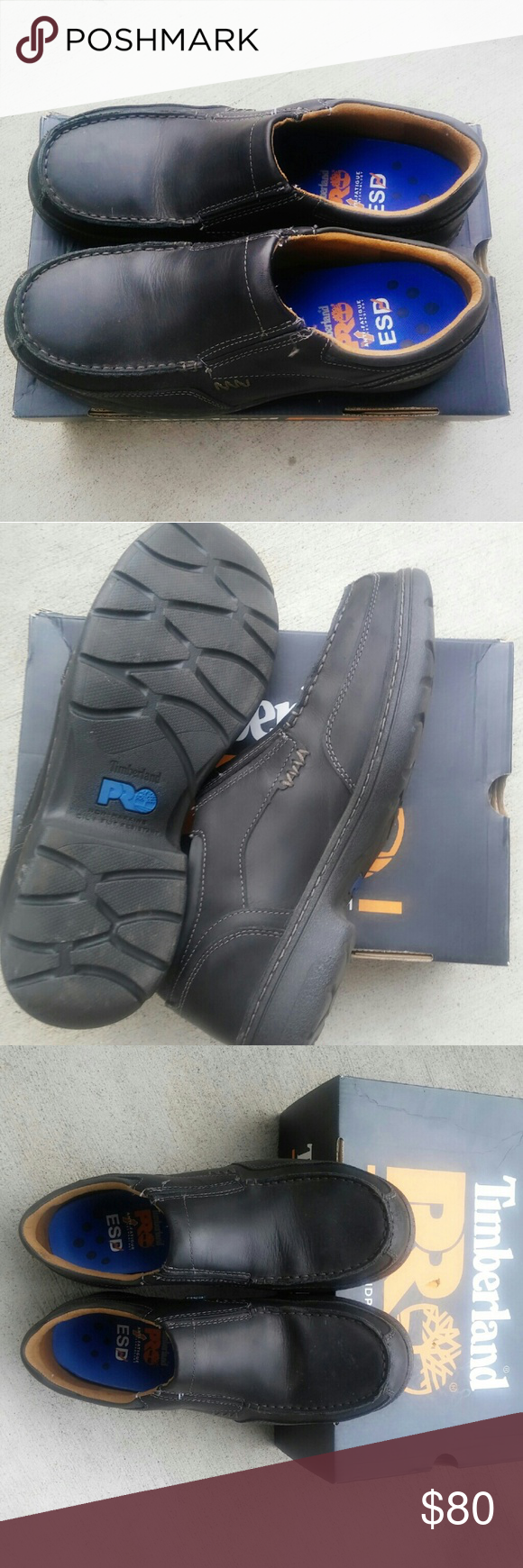 Branston Slip On Alloy Toe Safety Work Shoes Perfect work shoes, very comfy and easy to slip on. Worn just one time. Comes with box Timberland Shoes Loafers & Slip-Ons