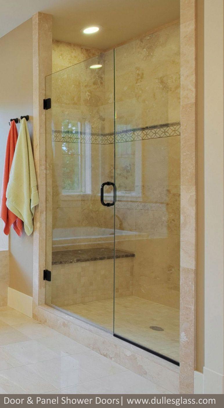 This Door Panel Shower Door Features Rich Oil Rubbed Bronze