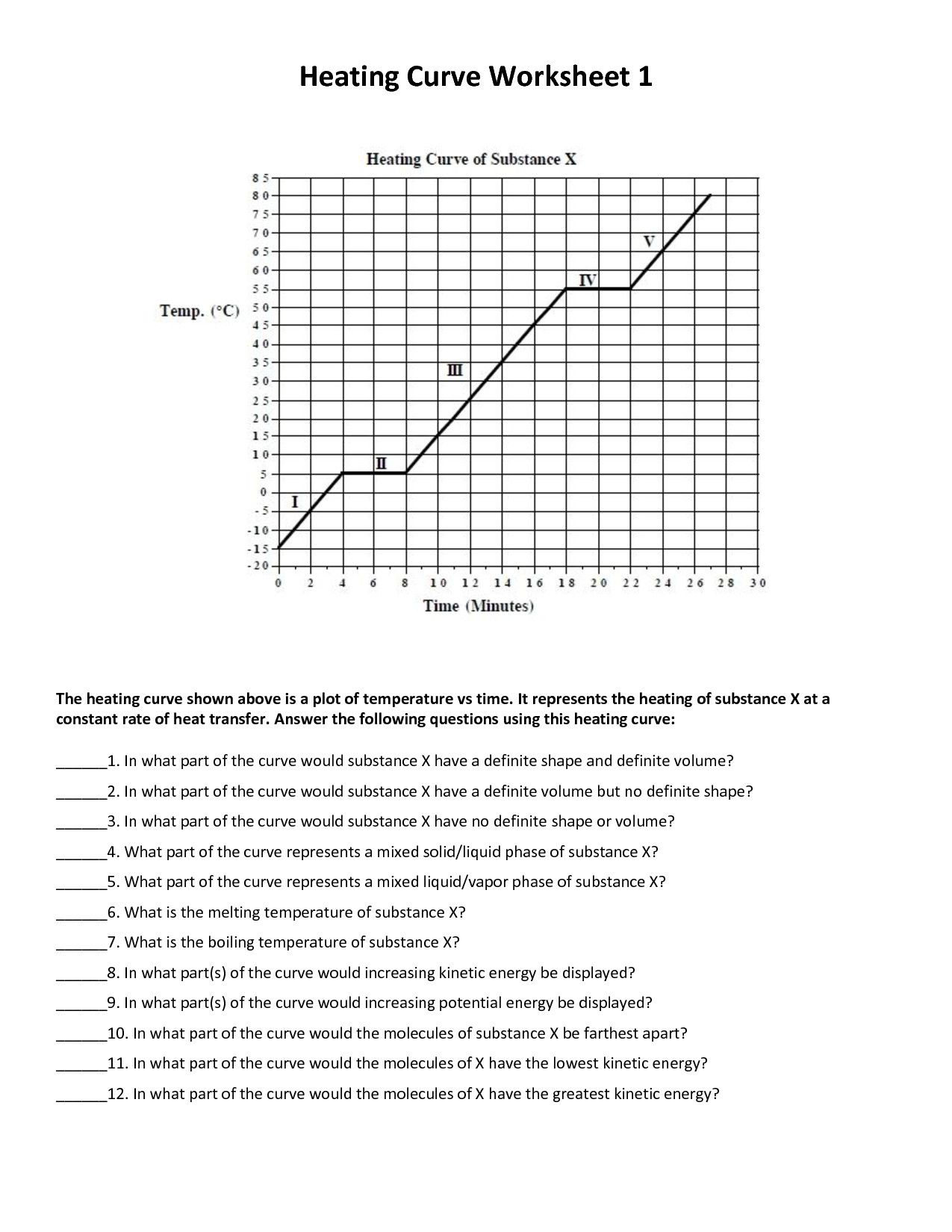 Formalrecent Chemistry Heating Curve Worksheet Answers
