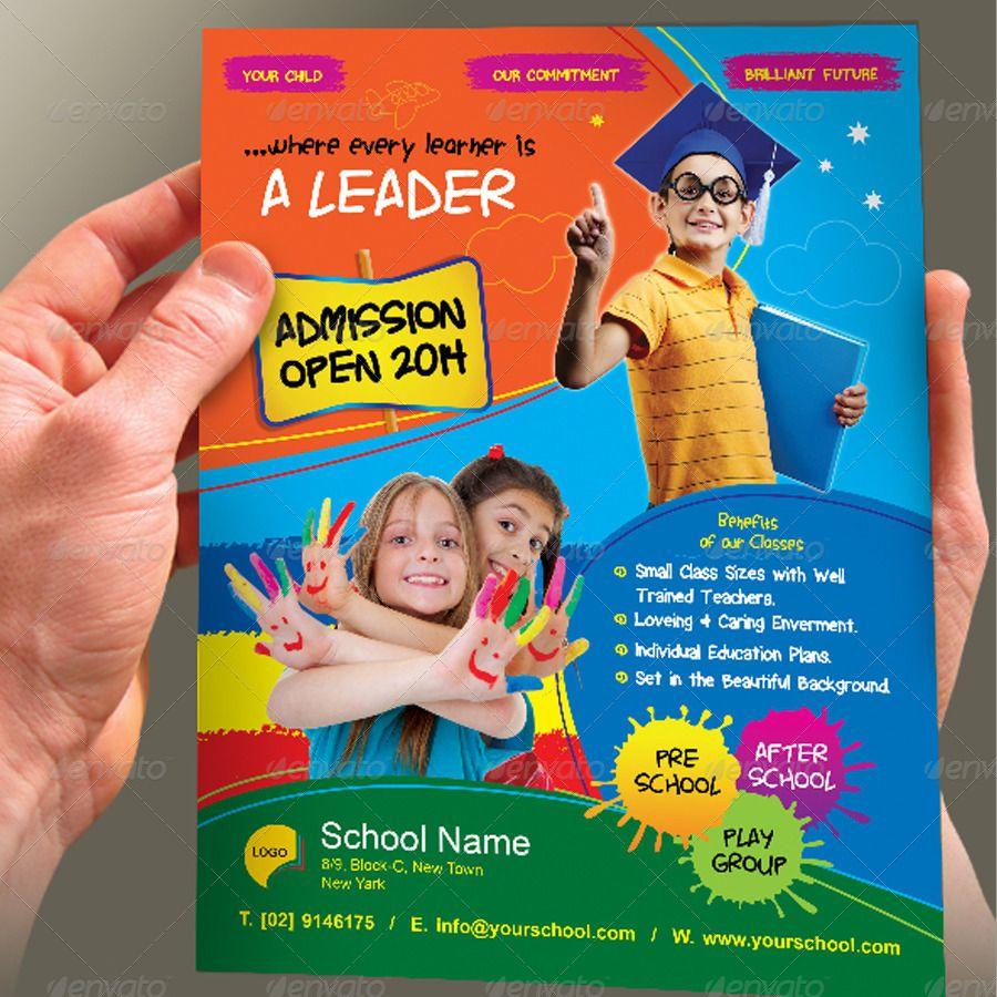 Junior School Admission Flyer Template School Ad Pinterest