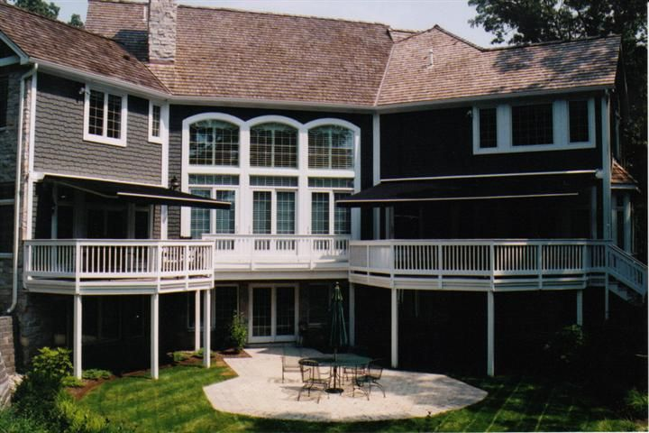 Gallery | Porch awning, House styles, Retractable awning