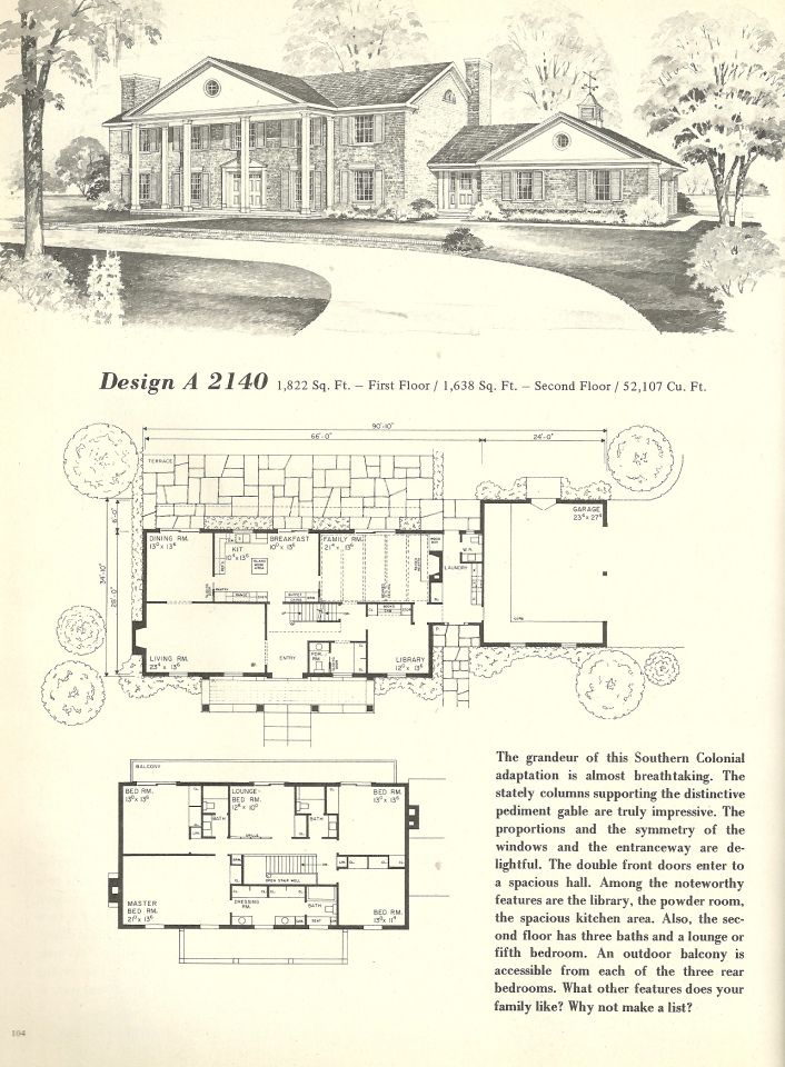 Vintage House Plans 2140 Vintage House Plans Vintage House House Plans