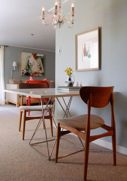 Solution For Small No Dining Space Bistro Table Against A Wall With Some
