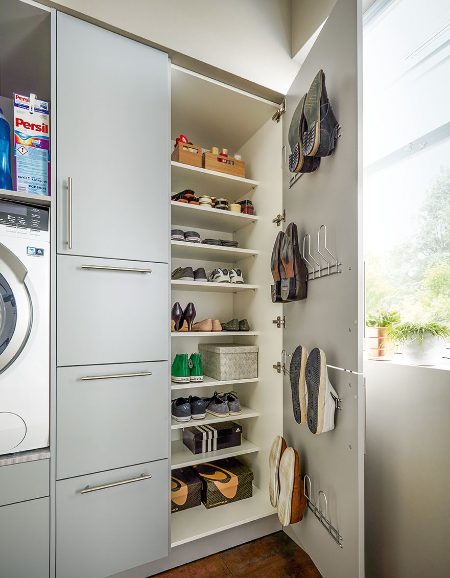 Utility Rooms By Schuller With Images Shoe Storage Solutions