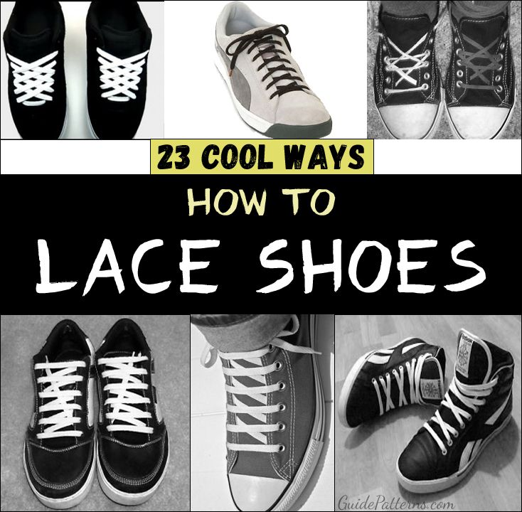 Different Ways to Lace Shoes Chaussures adidas en dentelle, façons de  Lace adidas shoes, Ways to