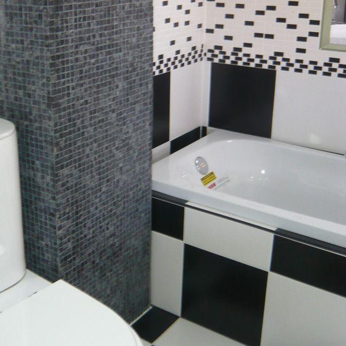 Ba os en blanco y negro ceramicas cvillebgclub for Azulejo de piso de bano blanco y negro