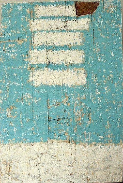 bars on 6033 - 2013 - 120 x 80cm - mixed media on used wooden board - CHRISTIAN HETZEL