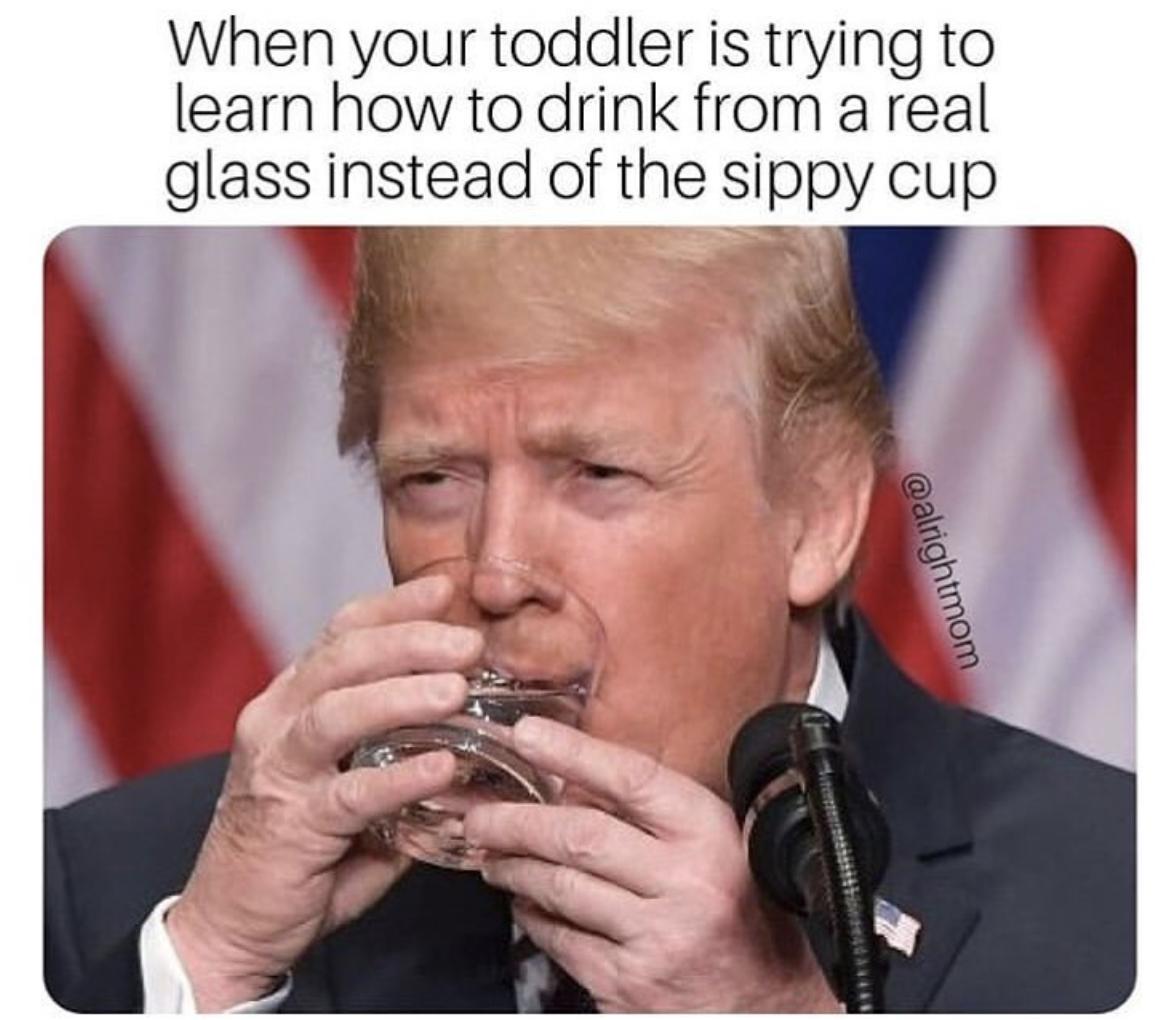 Way To Go Big Boy Alrightmom Trump Trumpmemes Newparentproject Momlife Newmommy Pregnant Pregn New Parents Parenting Memes Baby Memes