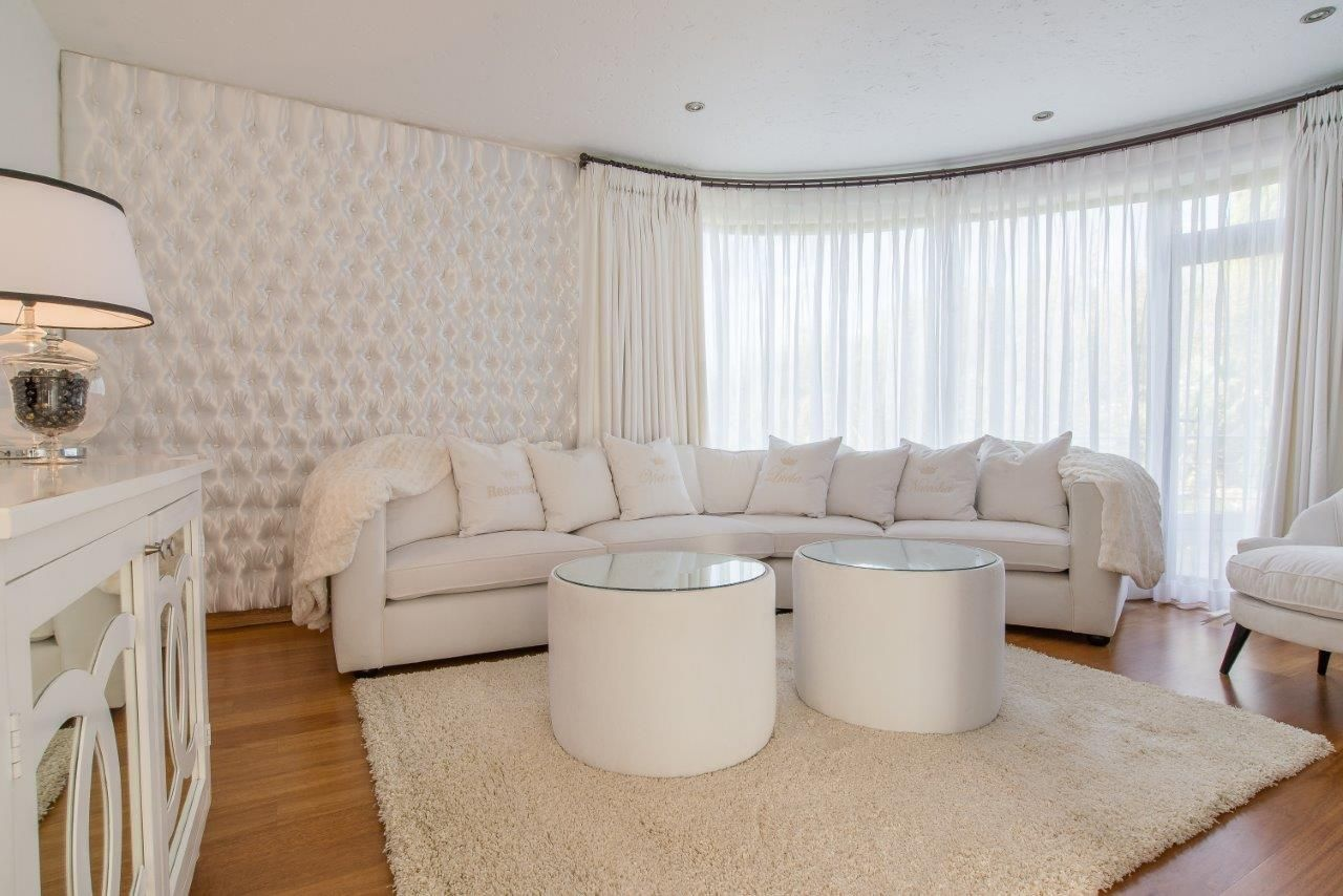 tv lounge furniture. White TV Lounge With Satin Tufted Wall Panel Curved Velvet Sofa And Drum Ottoman Coffee Tv Furniture T