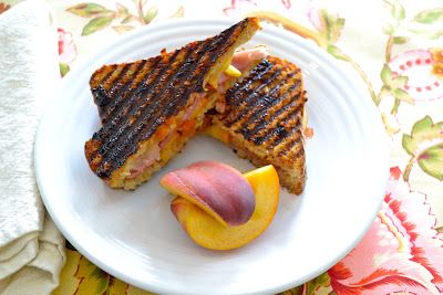 Ham, Brie & Peach Panini | Good Fun Gluten Free  #glutenfree