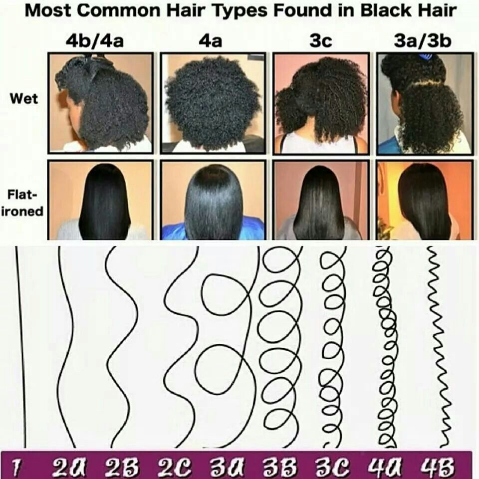 Most common hair types in black hair | Natural hair types, Natural ...
