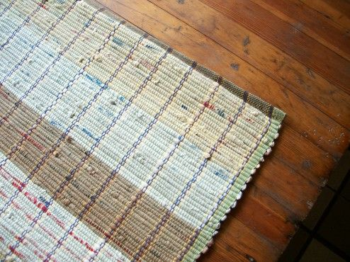 Instead Of Plastic Bags Going Into The Landfill They Were Made This Durable Pretty Easy To Clean Rug