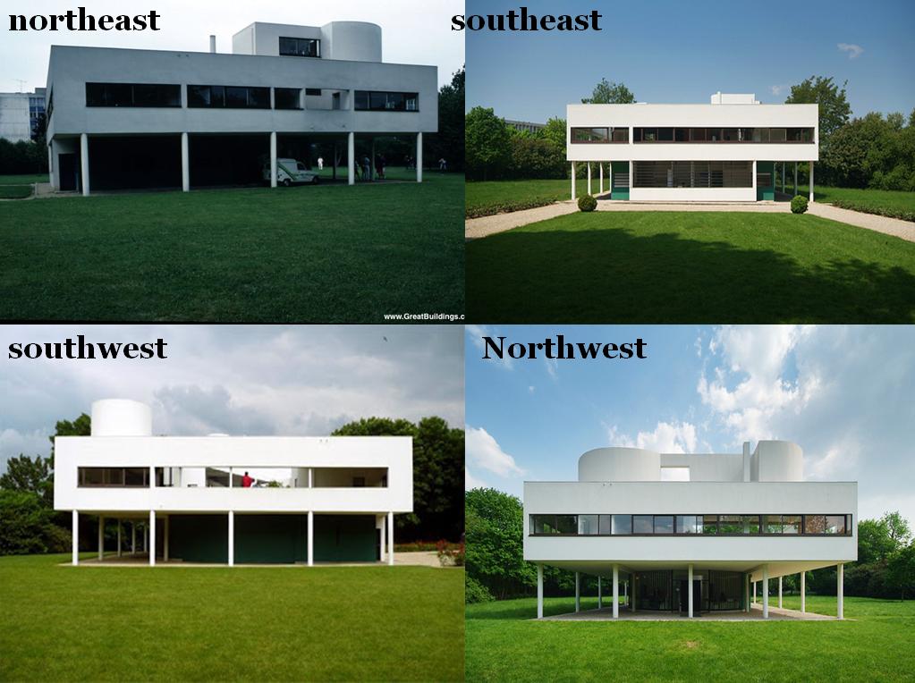 Villa Savoye à Poissy, Le Corbusier, facades | A voir | Pinterest