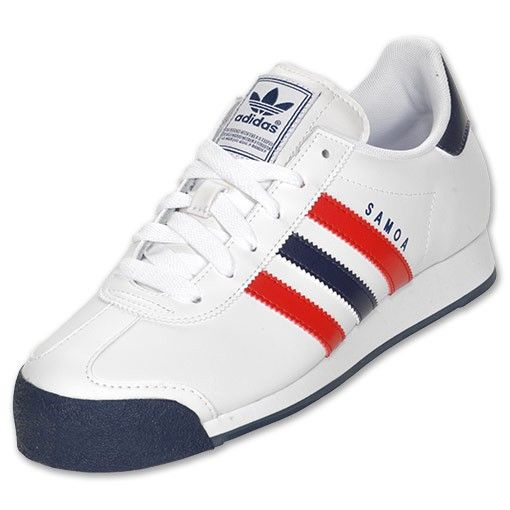 Adidas Samoa Casual Shoes Men White/Red