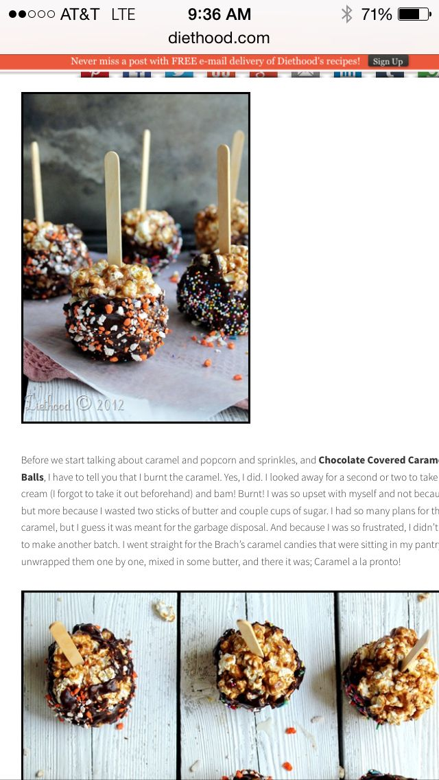 Popcorn Ball Treats