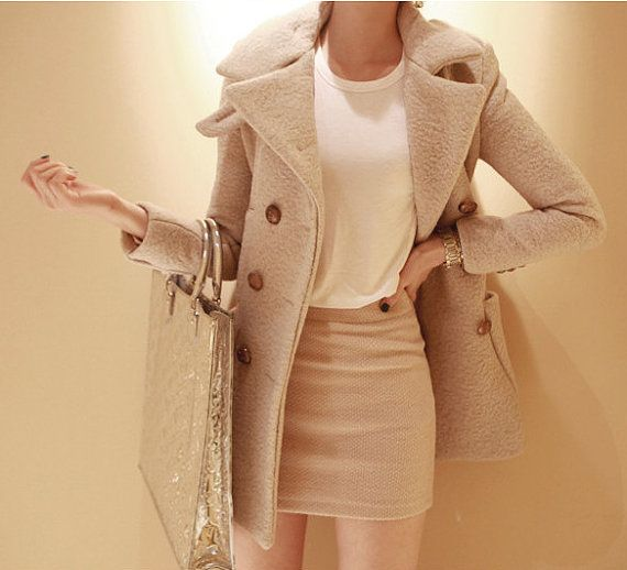 Beige Wool Coats