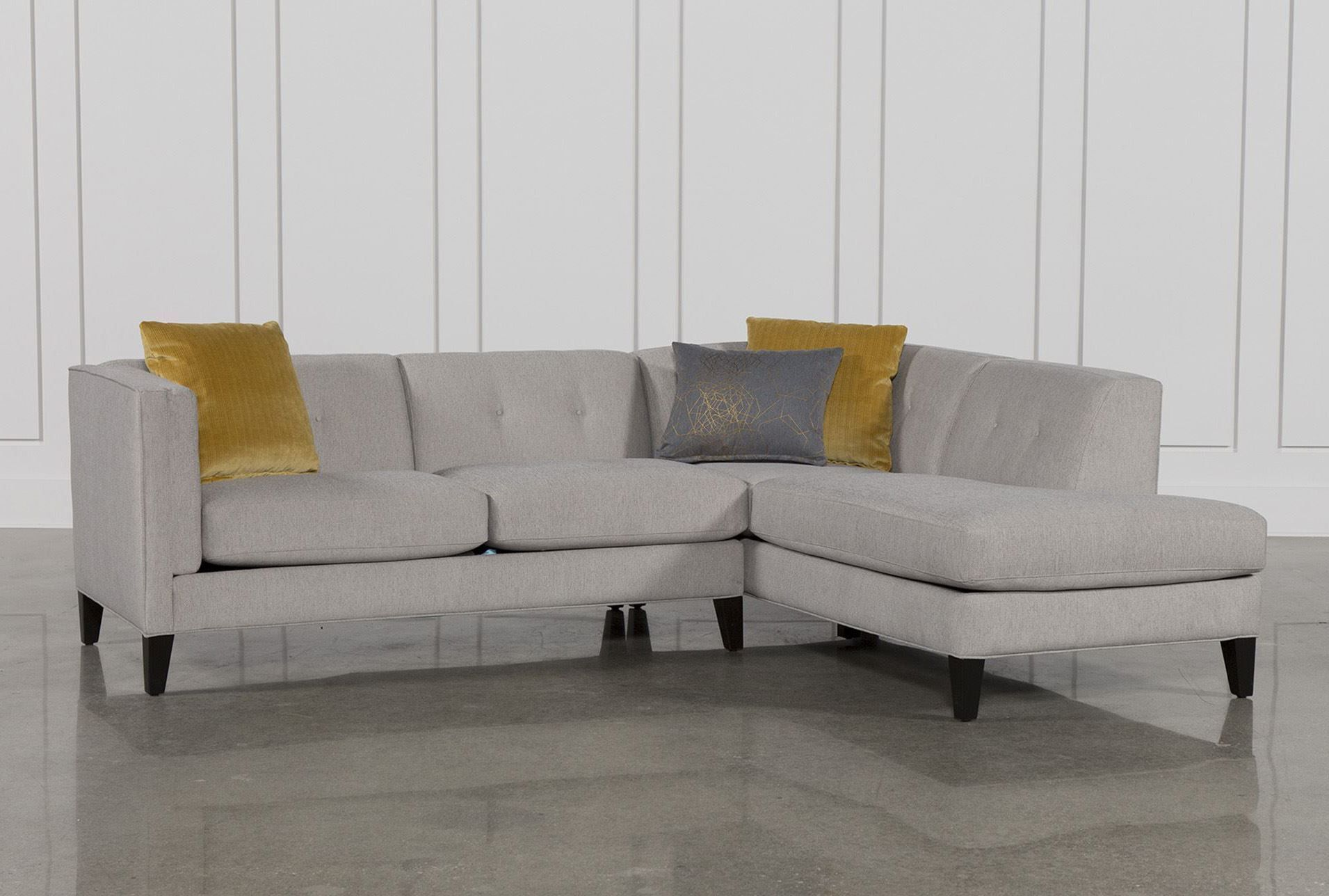 Avery 2 Piece Sectional W Raf Armless Chaise Living Spaces Small Sectional Sofa Small Sectional Couch Sectional