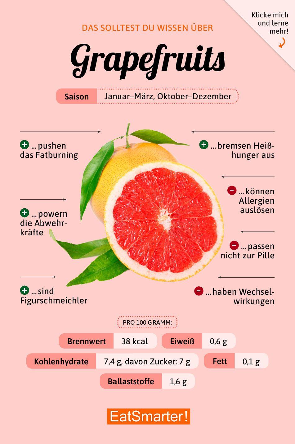 Das solltest du über Grapefruits wissen! #ernährung #infografik #grapefruits #nutritionhealthyeating