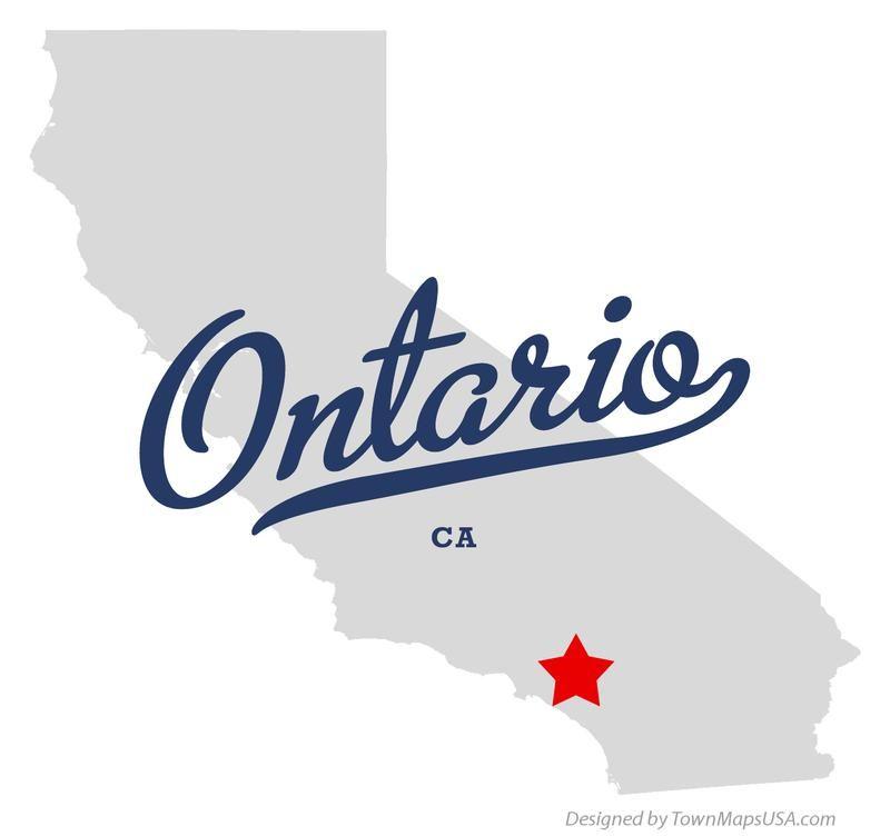 Map Of Ontario California Ca Ontario California Pasadena California Parks
