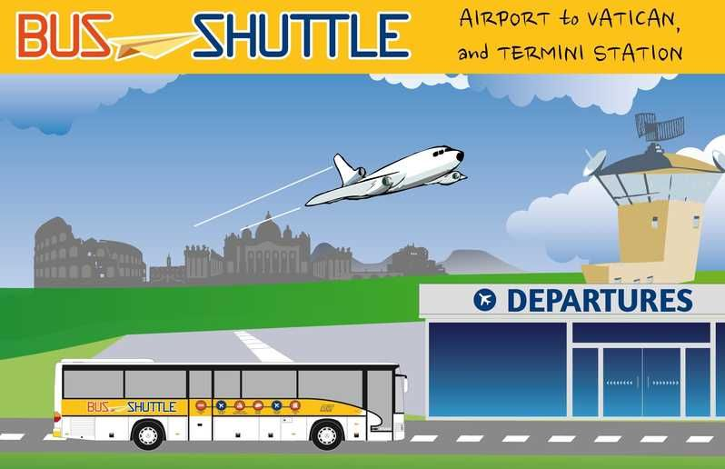 Rome: Return Bus Transfer Between Fiumicino Airport And