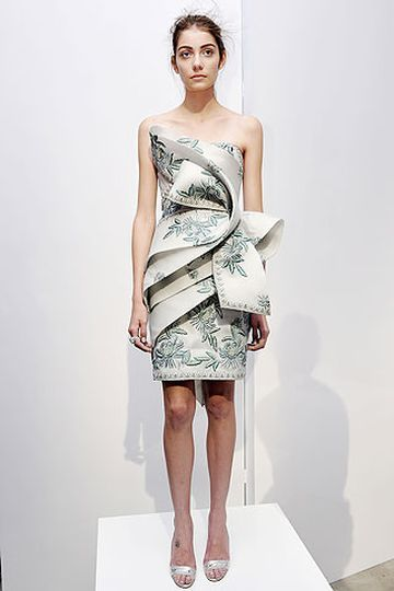 New Pearl Georgina Chapman By Marchesa One Shoulder Crepe Chiffon Dress Grecian Inspired D Overlay