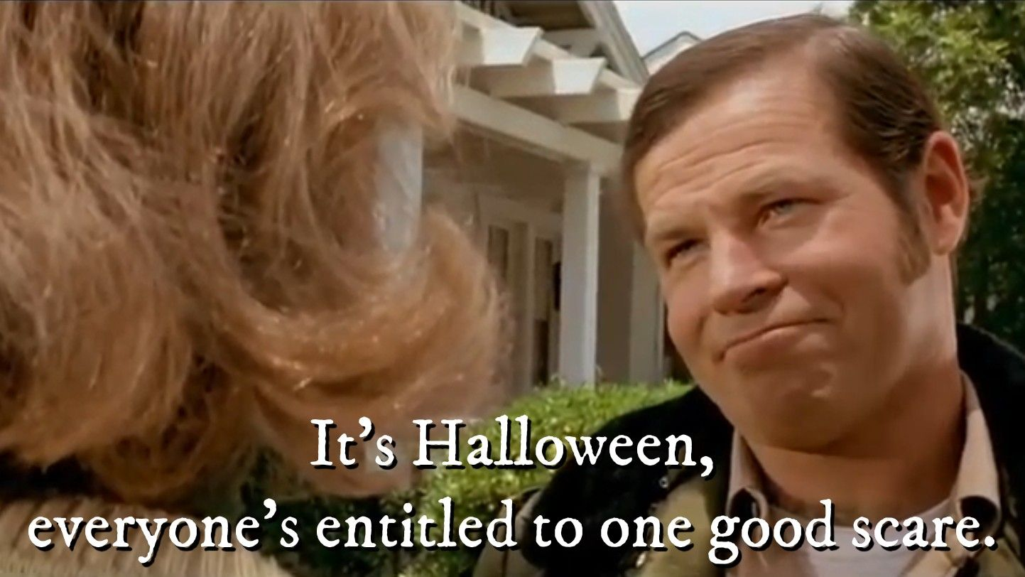 Halloween (1978) Fun to be one, Horror movies, Tv quotes