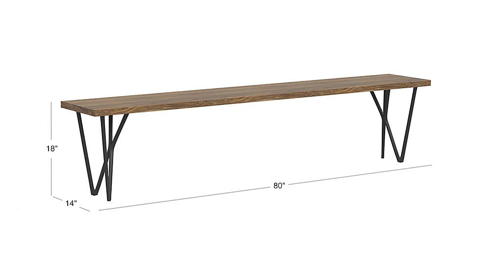 Image With Dimension For Dylan 80 Bench Banquette Bench Bench