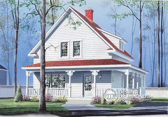 Détail du plan de Maison unifamiliale W2530 houses Pinterest - dessiner son plan de maison