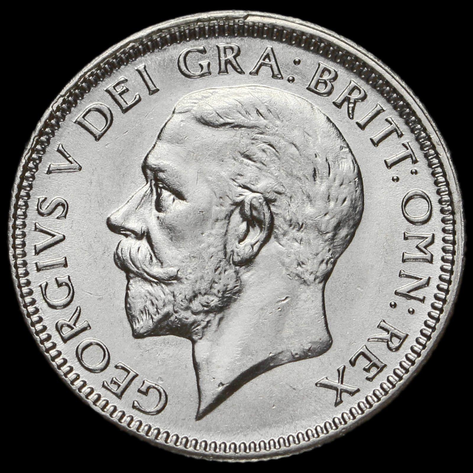 1928 George V Silver Shilling, G/EF