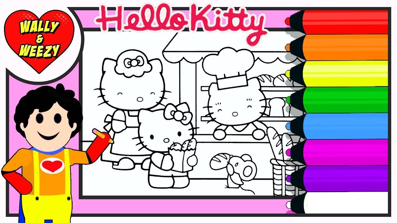 Hello Kitty Coloring Drawing Bakery For Kids Wally And Weezy Hello Kitty Coloring Kitty Coloring Kitty Drawing