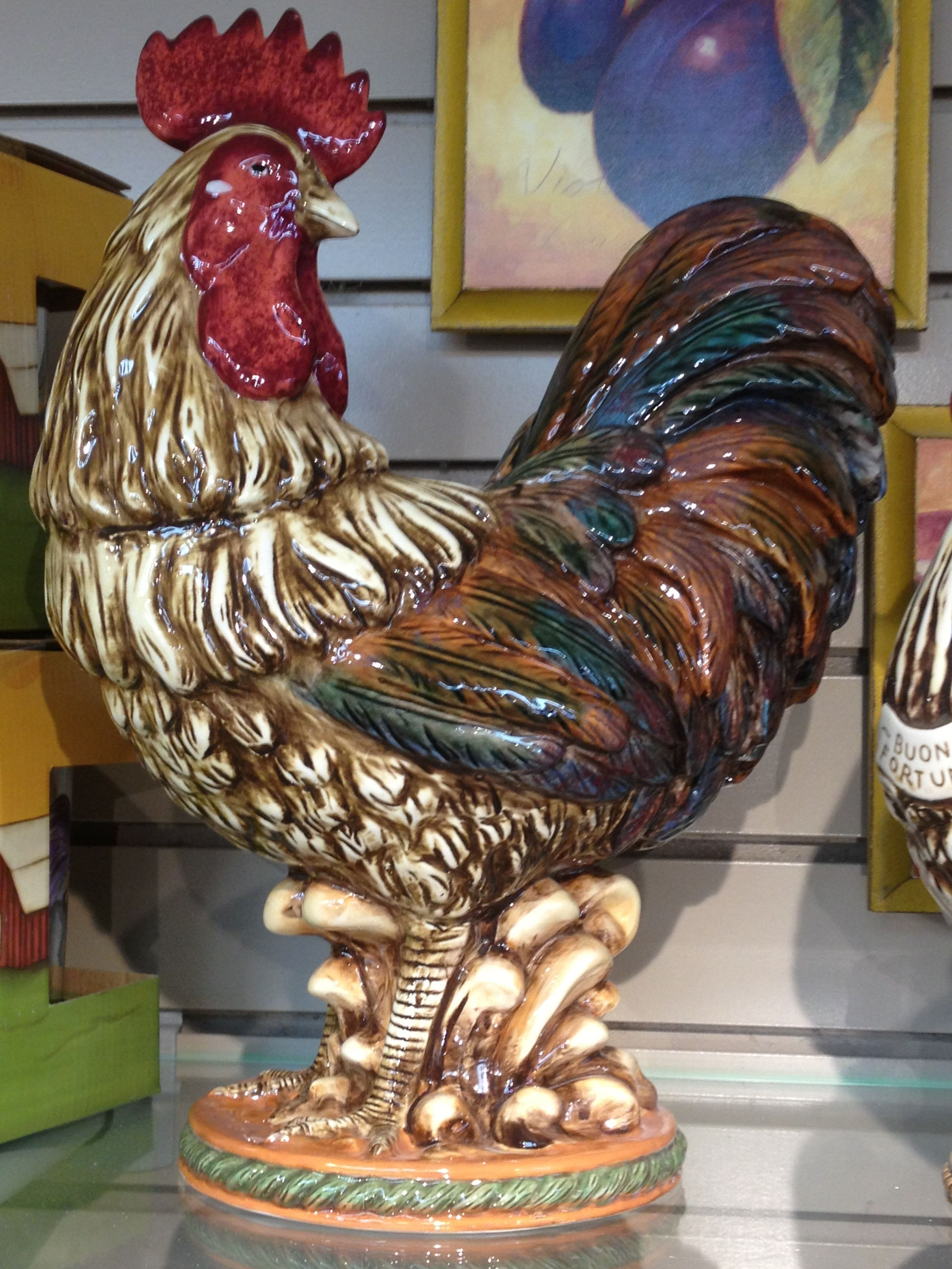 Rooster Decor In Living Room: New Ceramic Roosters Available In Two Sizes.
