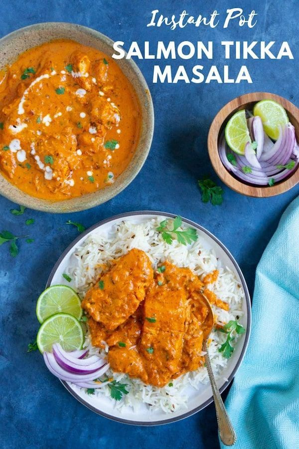Instant Pot Salmon Tikka Masala is super flavorful, perfectly cooked salmon in a delicious curry. S...
