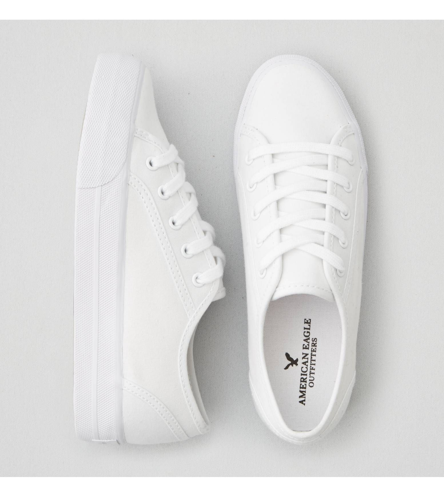 caa89aa036a White AEO Lace Up Platform Sneaker $30 | My Shoe Addiction ...