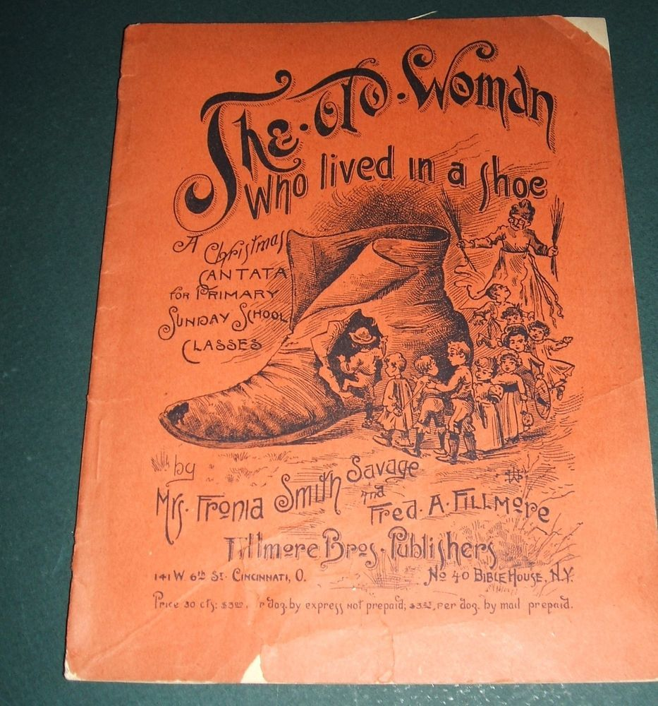 1891 Song Book of The Old Woman Who Lived in a Shoe A Christmas ...