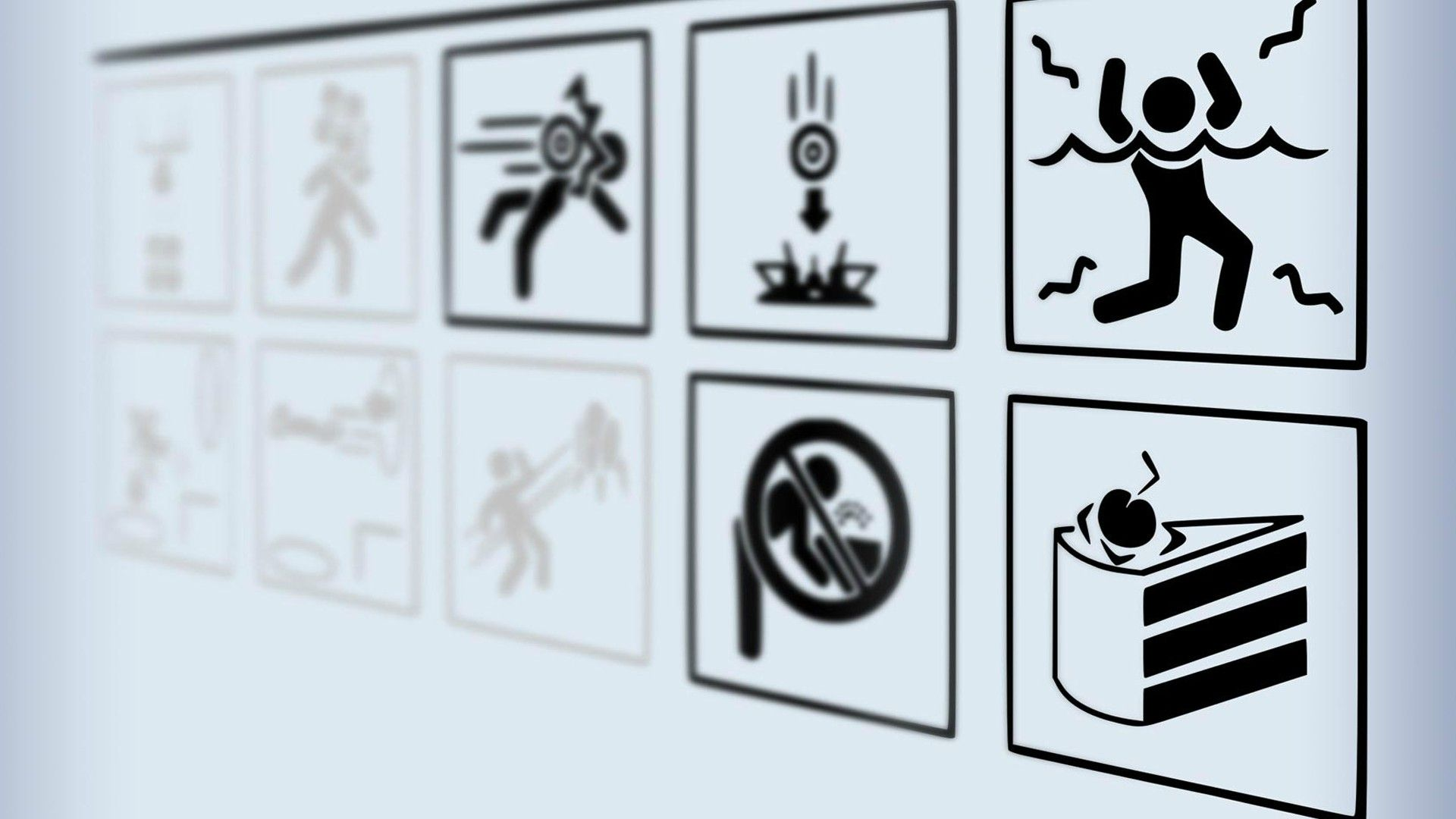 Portal Instruction Board wallpaper Portal wallpaper